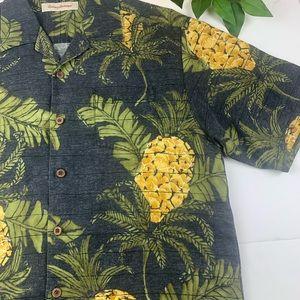 Tommy Bahama Shirts - Tommy Bahama Floral Pineapple Hawaiian Shirt Silk